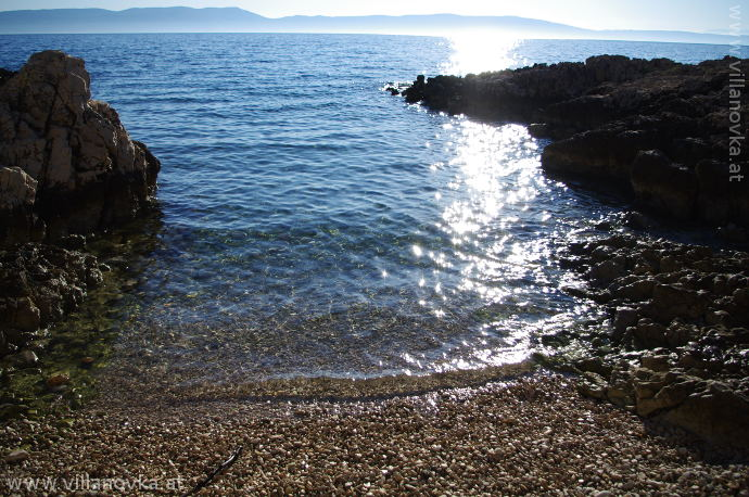 Strand Istrien Ravni versteckte Bucht