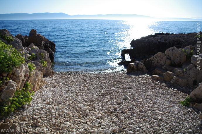 Strand Istrien Ravni beim Kreuz
