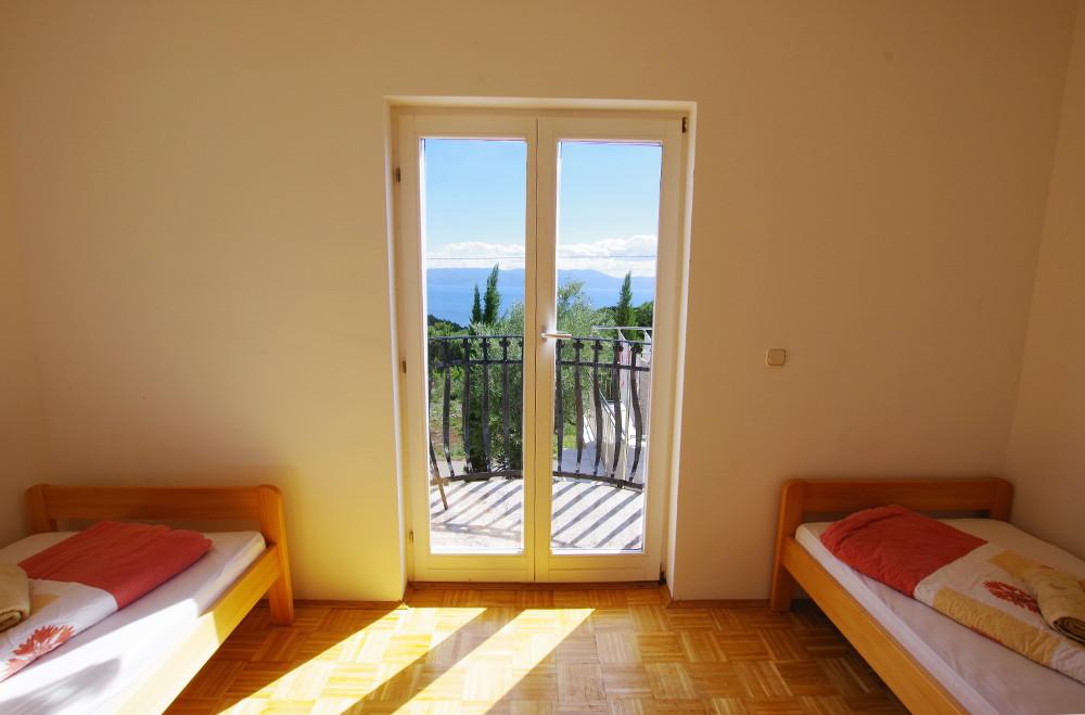 Schlafzimmer mit Meerblick Istrien