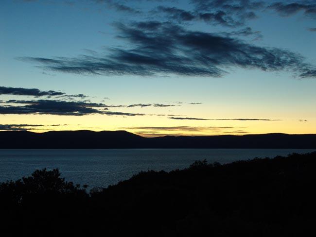 Sonnenaufgang in Istrien