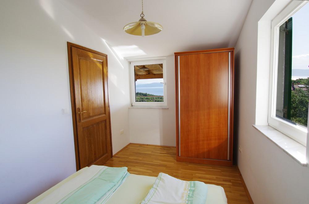 Istrien Appartement Schlafzimmer 1 Meeresblick
