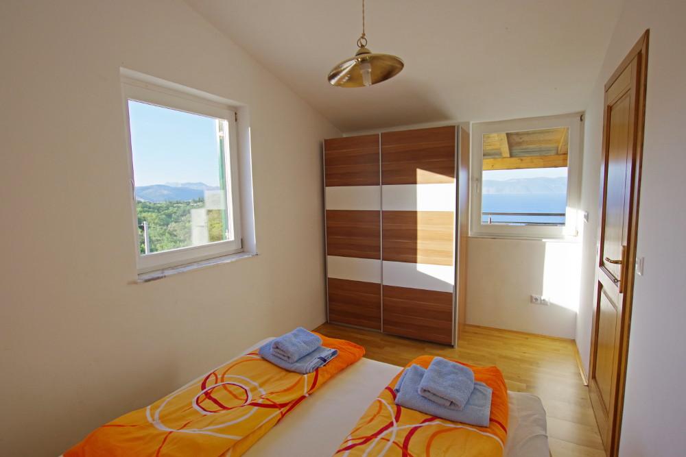 Istrien Appartement Schlafzimmer 8 Meeresblick