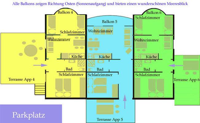 Grundrisse Appartements 4 5 6
